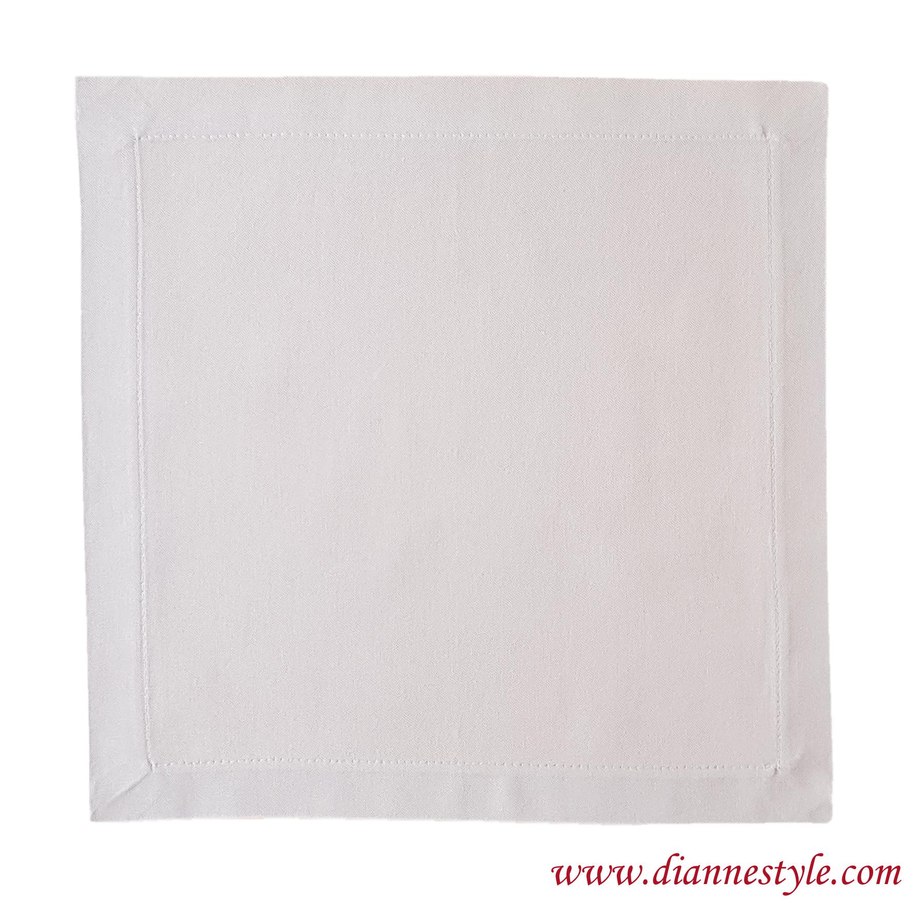 Serviette de table beige clair. 40x40 cm. Réf. 284