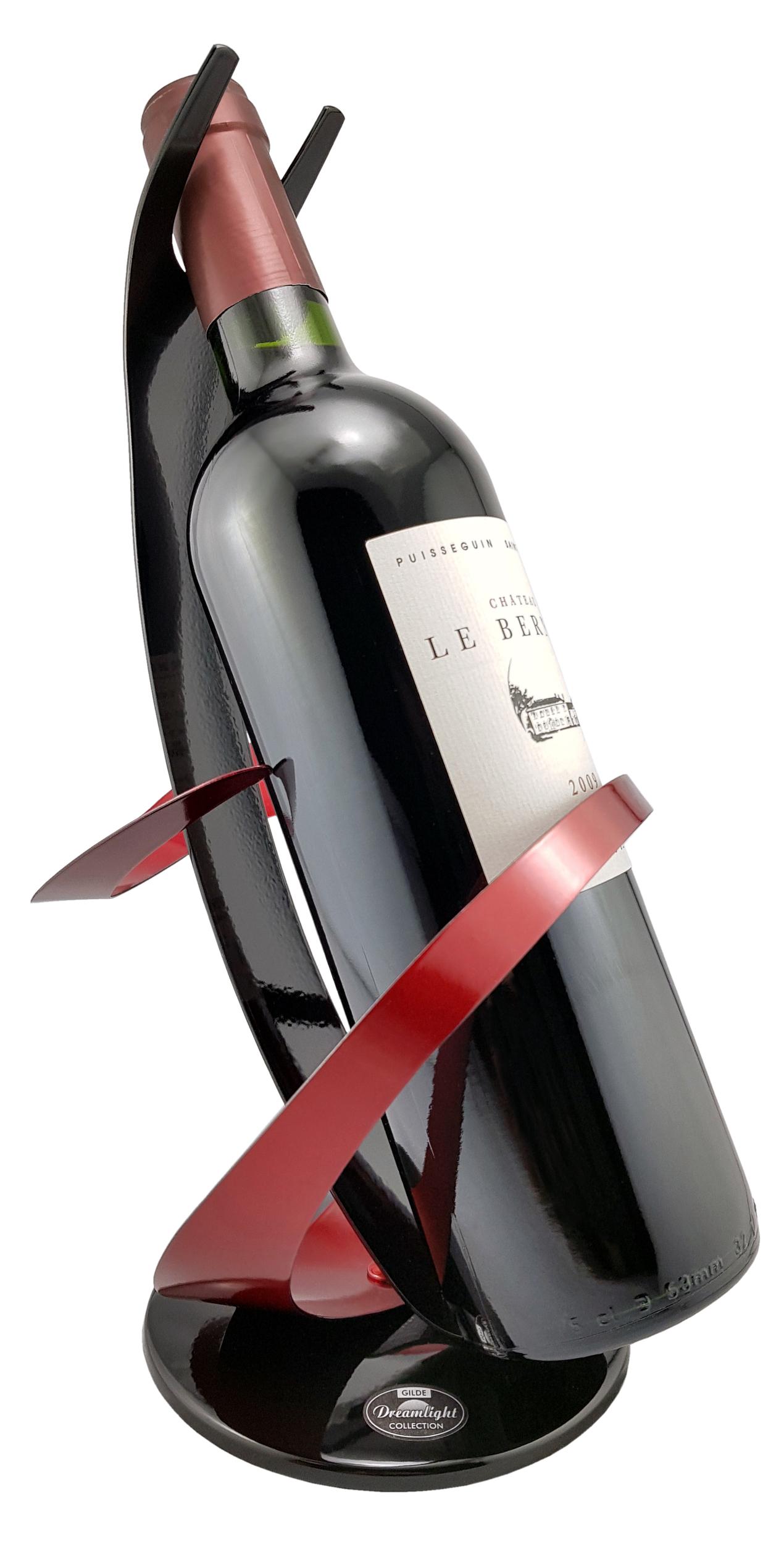 Porte-bouteille design en métal laqué. Réf. 302