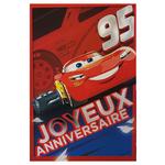 carte personnalisable en menu - Thème anniversaire Cars Disney avec Flash McQueen 95