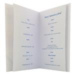 carte personnalisable en menu - Thème baptême colombe