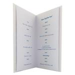 carte de menu baptême garçon