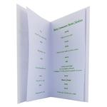 carte personnalisable en menu - Thème communion calice