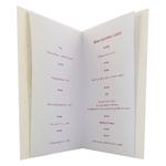 carte personnalisable en menu - Thème naissance fille