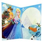 carte personnalisable en menu - Thème La Reine des Neiges Disney avec Elsa, Anna, Sven, Christophe et Olaf