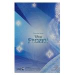carte personnalisable en menu - Thème La Reine des Neiges Disney