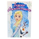 carte personnalisable en menu - Thème La Reine des Neiges Disney avec Elsa et Olaf