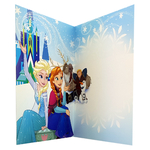 carte personnalisable en menu - Thème La Reine des Neiges Disney avec Elsa, Anna, Sven et Christophe