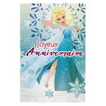 carte personnalisable en menu - Thème La Reine des Neiges Disney avec Elsa
