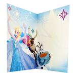 carte joyeux anniversaire La Reine des Neiges Disney avec Elsa, Anna, Sven et Olaf G