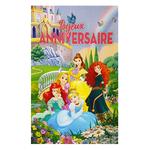 Carte personnalisable en menu - Thème anniversaire Princesses Disney Belle Raiponce Cendrillon Jasmine Axel