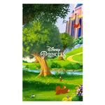 Carte personnalisable en menu - Thème anniversaire Princesses Disney