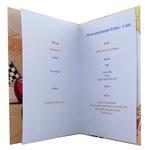 Carte personnalisable en menu - thème anniversaire Cars Disney