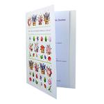 Carte personnalisable en menu - thème anniversaire fleurs