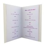 Carte personnalisable en menu - thème fête