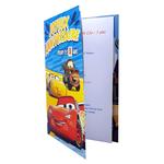 Carte personnalisable en menu - thème anniversaire Cars Disney Flash McQueen Cruz Martin