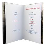 Carte personnalisable en menu - thème anniversaire Cars Disney Flash McQueen 95