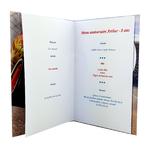 Carte personnalisable en menu - thème anniversaire Cars Disney Flash McQueen Dinoco