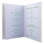 Carte personnalisable en menu - thème anniversaire de mariage fleurs roses