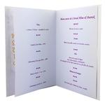 Carte personnalisable en menu - thème anniversaire de mariage fleurs violettes