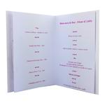 carte personnalisable en menu - thème anniversaire de mariage papillons