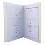 carte de menu - Thème félicitations pour mariage dorée Réf 42 B