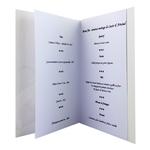carte personnalisable en menu - Thème félicitations pour mariage