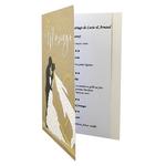carte de menu félicitations pour mariage Réf 43 A