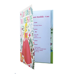 Carte de menu anniversaire princesses disney Réf 106 A