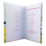 carte de menu anniversaire princesses Disney 106 B