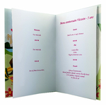 carte de menu anniversaire princesses Disney 108