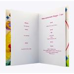 carte de menu - Thème anniversaire Princesses Disney Aurore Belle Cendrillon