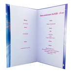 carte personnalisable en menu - Thème anniversaire Reine des Neiges Disney Elsa