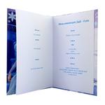 carte de menu - Thème anniversaire Reine des Neiges Disney Elsa