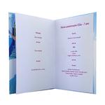 carte de menu - Thème anniversaire Reine des Neiges Disney Elsa Olaf