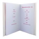 Carte personnalisable en menu - Thème anniversaire enfant