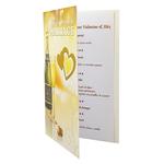 Carte de menu anniversaire de mariage Réf 62