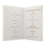 Carte personnalisable en menu - Thème anniversaire de mariage champagne