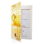 Carte de menu anniversaire de mariage Réf 64