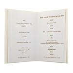 Carte personnalisable en menu - Thème anniversaire de mariage verres de Champagne