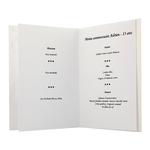 carte personnalisable en menu - Thème anniversaire garçon foot bleu
