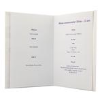 Carte personnalisable en menu - Thème anniversaire