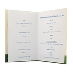carte menu personnalisable foot verte