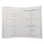 Carte personnalisable en menu - Thème anniversaire guitare