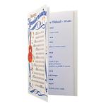 Carte de menu anniversaire homme Réf 66