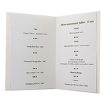 Carte personnalisable en menu - Thème heureux anniversaire homme vin