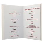 Carte de menu anniversaire homme Réf 58 B