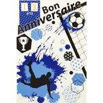 carte de menu anniversaire foot Réf 90