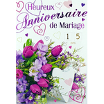 carte anniversaire de mariage Réf 52