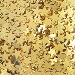 Paillettes de table étoiles couleur or
