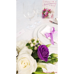 nappe de table damassée Perle blanche